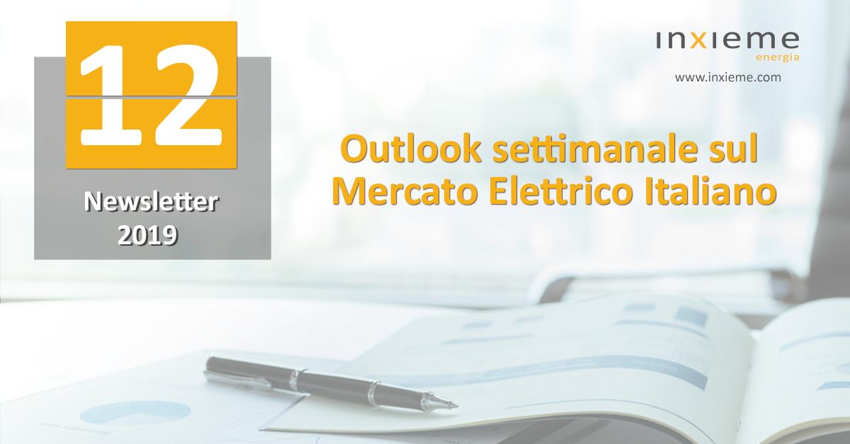 Newsletter Mercato Elettrico: Settimana 12