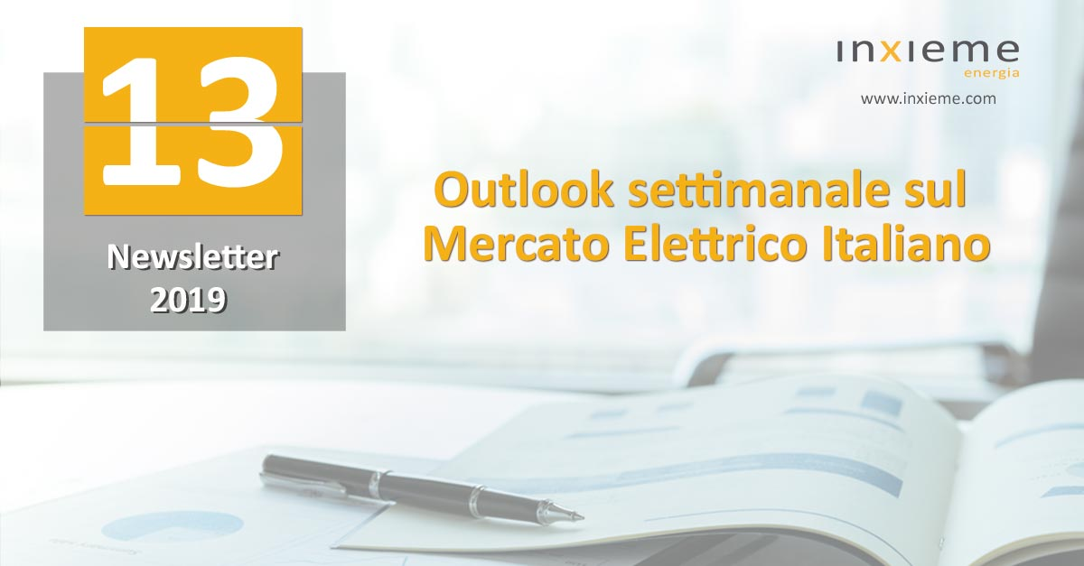 Newsletter Mercato Elettrico: Settimana 13