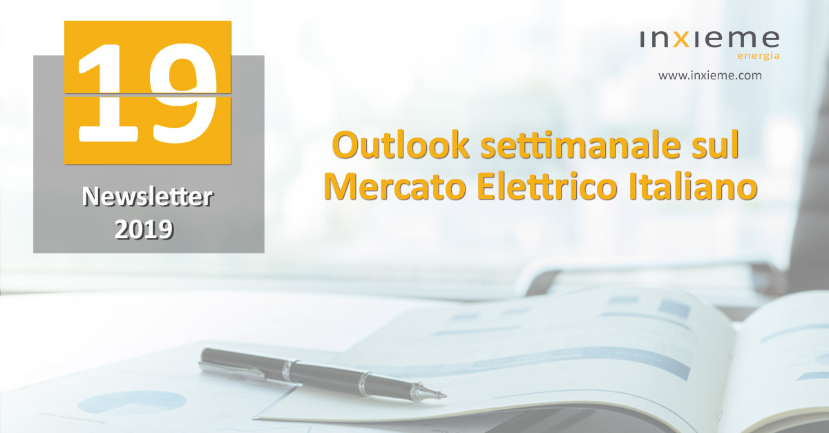 Newsletter Mercato Elettrico: Settimana 19