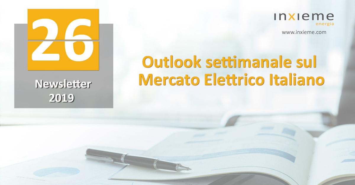 Newsletter Mercato Elettrico: Settimana 26